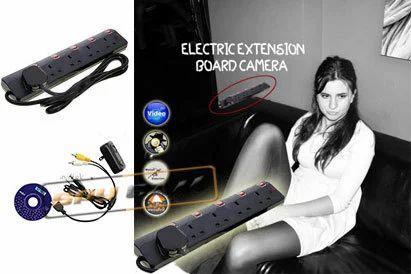 Spy Camera In Electric Extension Board