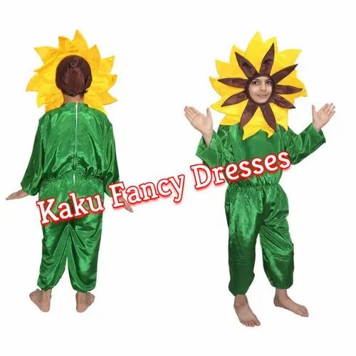57bc646ec Polyester Kaku Fancy Dresses Kids Yellow Flower Fancy Dress Costume, Age:  3-4
