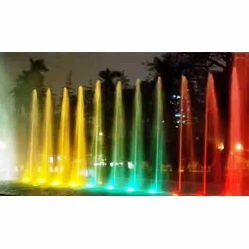 Brass Nozzle LED Jet Fountain