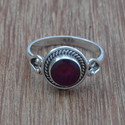 Ruby Gemstone 925 Sterling Silver Handmade Ring