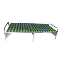 Decent Furniture Brown Single Folding Bed, Size: 75x35 Inch