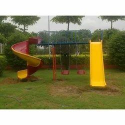 FRP Kids Slide And Swing