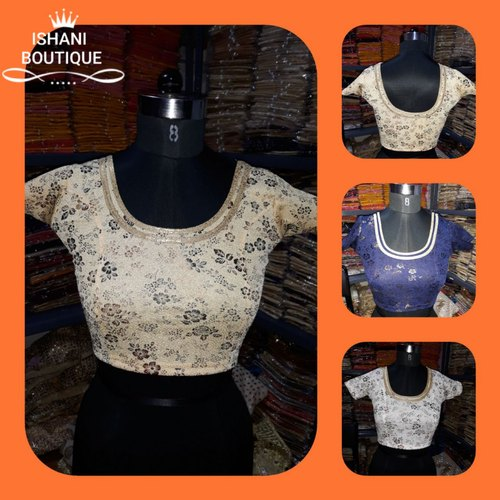 Lycra Stretchable Printed Blouse
