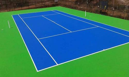 Reskin Brown and Teracota Tennis Court Flooring, India
