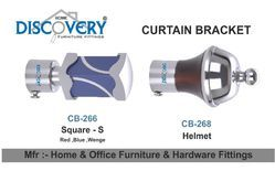 Helmet And Square Curtain Bracket