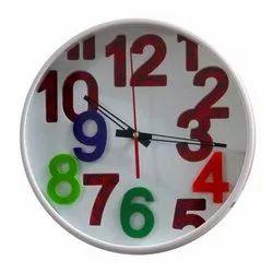 Analog Plastic Round Decorative Wall Clock