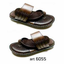 Mens Leather Slipper, Size: 6-10