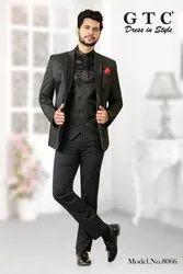 Black Plain Men''s Designer And Wedding Suit
