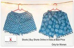 Indian Handmade Short Women Indigo Paint Shorts