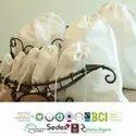 Organic Cotton Muslin Bag Fair Trade Certified