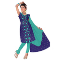 Designer Bandhani Blue Suit