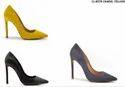Party Wear Resin Carlton Women Footwear Heels