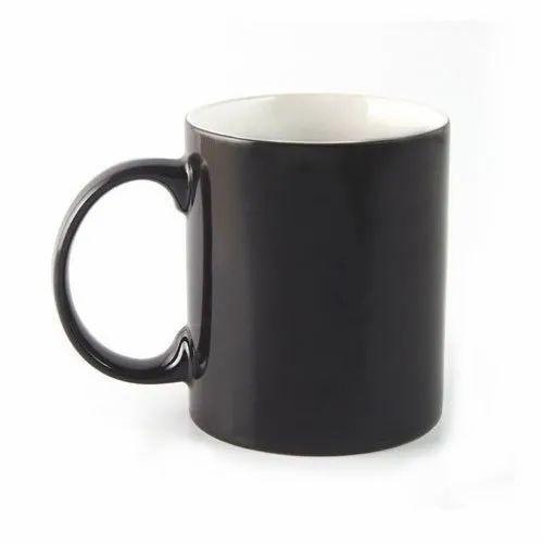 Black Ceramic Plain Coffee Mug For