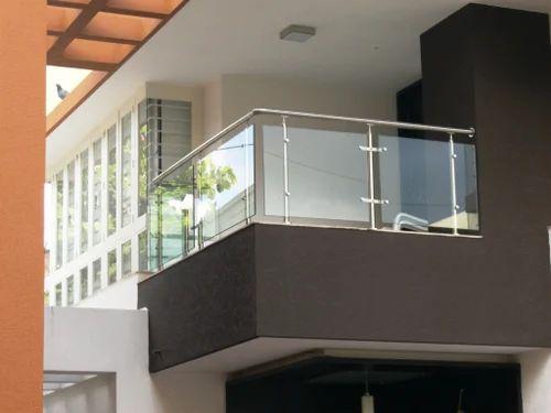Stainless Steel Balcony Design Toughened Gl Handrails