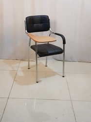 OMACME Black Cushioned Writing Pad Chairs, For Office