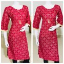 Printed Straight Ladies Cotton Kurtis