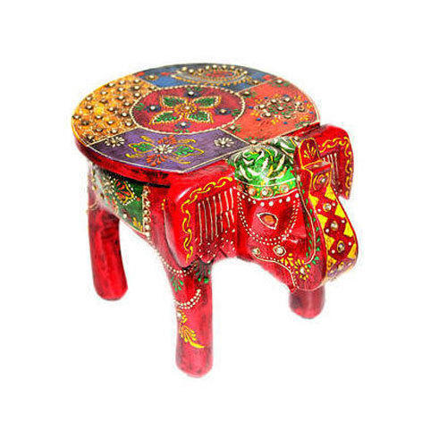 Handcrafted Wooden Elephant Table At Rs 700 Piece