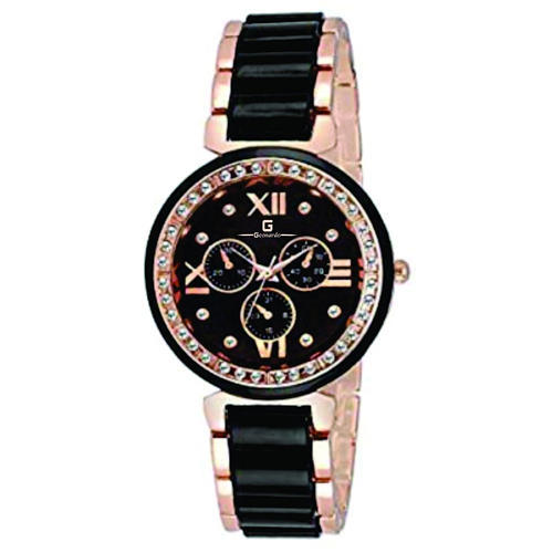 6ee6677b9652 Slimstyle Black Dial Dual Colour Chain Women s Watch at Rs 160 ...