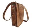 Full Flap Vintage Leather Messenger Bag