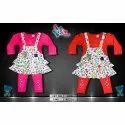 Printed Baby Three Piece Frock Set, Packaging Type: Packet