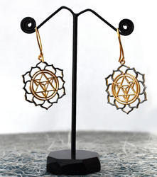 New Style Fashion Brass Gold & Oxidized Plated Earrings