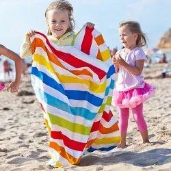 Sandex Corp White Cotton Kids Beach Towels, For Beach, Home