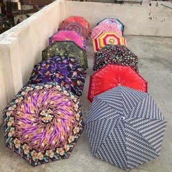 Printed Satin Folding Umbrellas