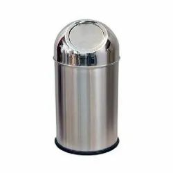 One Plus Silver SS Push Bin, for Office
