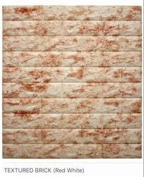 Textured Brick (Red White) Wall Panel