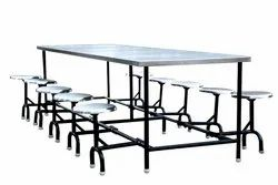 Abhay Products Dimensions: 2400 X 900 X 800 Dinning table with folding stools, Material: Ms Frame & Ss Top, 12 Months