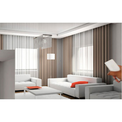 D Decor Plain Automatic Curtain Rs 350 Meter Shangar