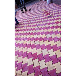 Acme Pink, Light Yellow I Shape Paver Blocks, Thickness: 50-60 Mm