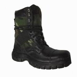 MENS POLICE LEATHER LIGHTWEIGHT MILITARY STEEL TOE CAP WORK SAFETY SHOE BOOTS SZ