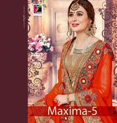 Pikaso Maxima-5 Series 7031-7036 Stylish Party Wear Georgette Saree