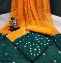 Designer Suit Cotton Bandhej