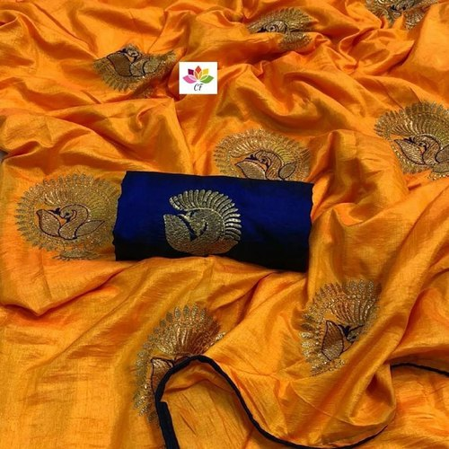3ee1d30071b11 Wedding Wear Sana Silk Saree With Blouse Piece