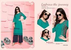 Designer Silai Vol-2 Series 201-208 Stylish Party Wear Rayon Kurti