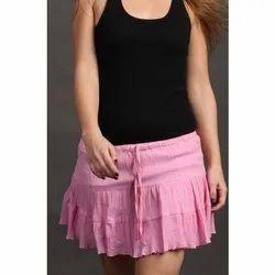Baby Pink Mini Skirts