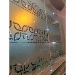 Printed Glossy Patch Fitting Decorativ Glass, For Office