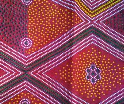 Red/Yellow Printed Roto Fabric (Safa