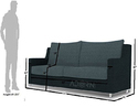 Adorn India Modern Straight Line Sofa Set(Grey & Black)