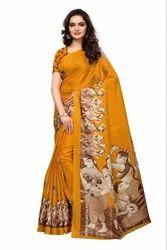 Kalamkari Ajanta Printed Saree