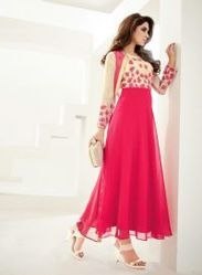Pink, Excellent Designs, Perfect Combination Party Wear Kurti