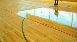 Wooden Sports Flooring Service, Thickness: 5 mm