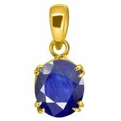 Blue Sapphire Pendant Asthdhatu Gemstone