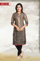 Secret Shimmer Cotton Silk Formal Wear Tunic For Women
