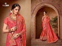 Indian Women Pink Color Silk Saree