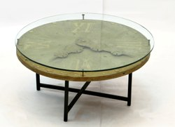 center table with clock