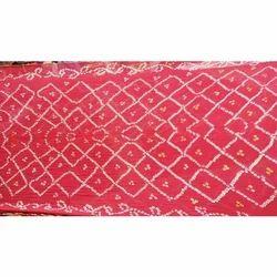Georgette Pink Ladies Designer Bandhani Saree, 5.5 M (separate Blouse Piece)