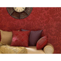 PVC Red Floral Wall Coverings